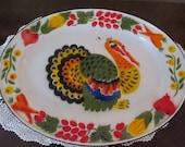 Vintage Large Enamelware Turkey Platter,Tray