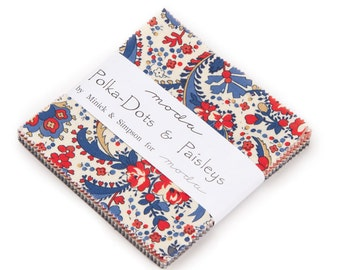 Polka-Dots and Paisleys Charm Pack by Minick & Simpson for Moda Fabrics