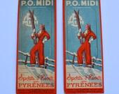 Rene Girard Artwork Sports d'Hiver Aux Pyrenees PO MIDI Bookmarks Ephemera Clarital Brevete SGDG Papeteries Louis Muller & Fils Paris