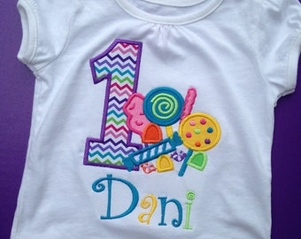 Candy Birthday Party Shirt or Onesie, Candy Party, Candy Land Party Shirt, Candy Shop Party