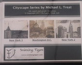 Cityscape Card Set: Set of 6 Note Cards Featuring New York and Washington DC
