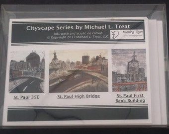St Paul Card Set: Set of 6 Note Cards Featuring Saint Paul, MN