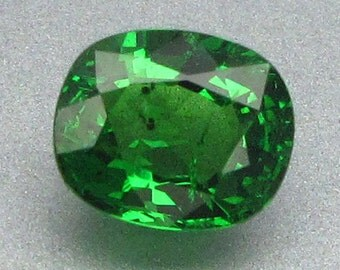 1.00 Ct Natural Green Tsavorite Garnet Unheated Jeweler