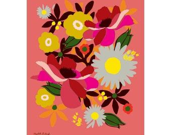 Back Yard Garden Print 11 x 14 inches