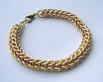 Raphael - Gold Chainmaille Bracelet