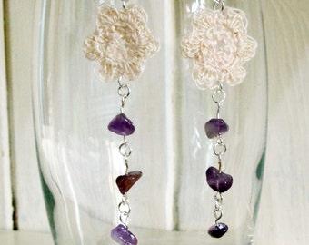 Crocheted Flower Earrings Kit Craft Kit