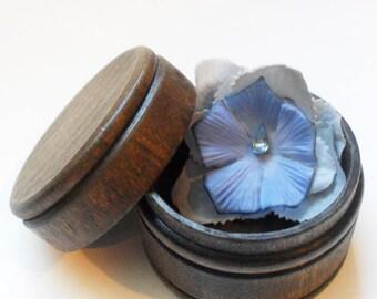 Gray and Blue Hydrangea Flower Hair Clip
