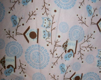 Birds on Branches Snuggle Fabric,1 Yard