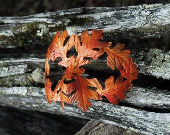 Autumn Green Man Mask White Oak