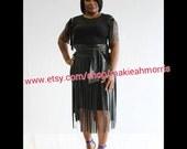 Black Leather Fringe Skirt Black Leather Skirt Black Fringe Skirt Black Leather Belt Fringe Skirt Leather Skirt Leather Fringes