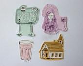 Pastel sticker set (8 stickers)