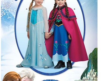 New Simplicity Pattern 0733 Frozen Costume Size 3-8