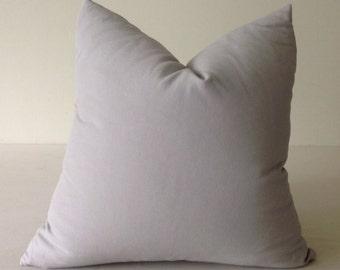 Pillows, Gray Pillow Cover Decorative Throw Pillow Solid Gray Pillow, Light Gray Pillow