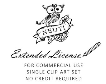 Extended License for Commercial Use. No Credit Required. For Single Clip Art Set.