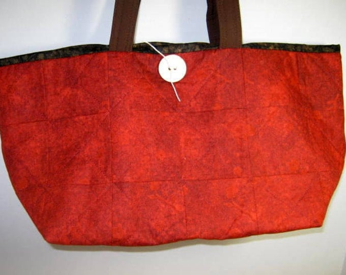 Red Small Quilted Yarn Organizer Knitting Crochet Craft Project Tote