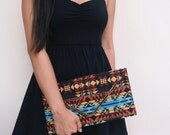 Evening Clutch  bag,  Boho Bag, Aztec Clutch Bag, Shoulder cross body bag, unique Teacher Gift  for women her-  By PiYOYO