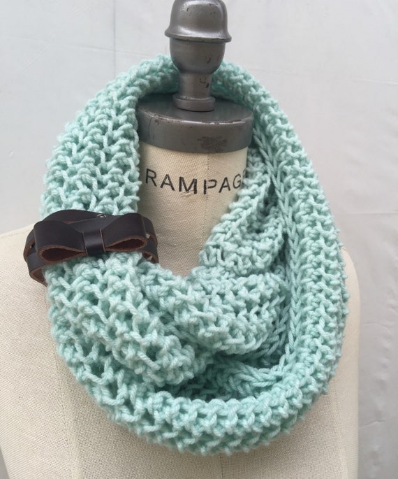 Knitting Items To Sell : Best selling item items hand knit knitted mint green infinity