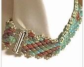 RESERVED    Off Loom Peyote Weave Bracelet