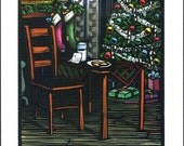 Greeting Card (1) from a Linocut By Ken Swanson (0466)