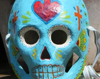 Sacred Heart style Calavera- Dia De Los Muertos mask decoration