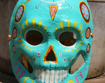 Folk inspired design style Calavera- Dia De Los Muertos mask decoration