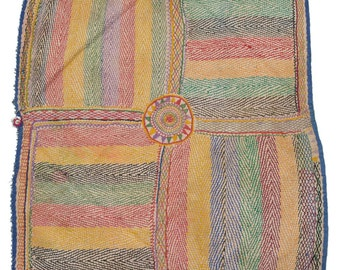 Original Vintage Kantha Patch for craft project D78
