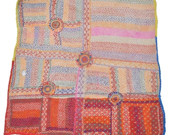 Original Vintage Kantha Patch for craft project D79