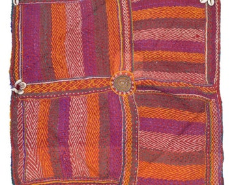 Original Vintage Kantha Patch for craft project D80
