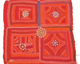 Original Vintage Kantha Patch for craft project D82