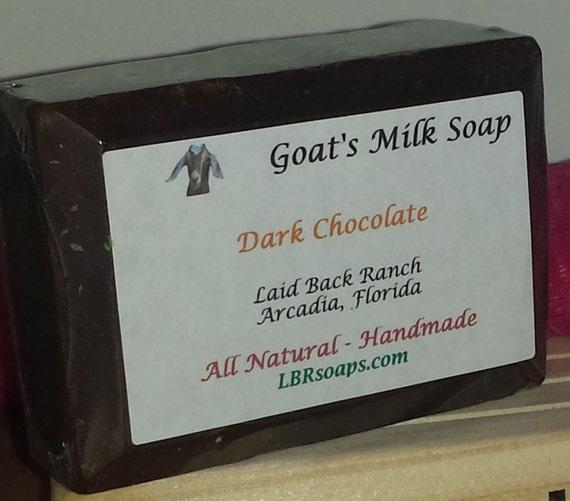 SALE Goat Milk Soap Dark Chocolate Handmade Soap By Lbrsoaps