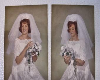 Vintage 2 Wedding Photos 1950s Young Bride 7 By 5--weddings