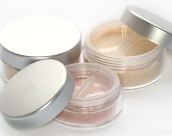 Mineral Makeup Set - Vegan Delicate Foundation, Primer/Finishing Veil, and Blush