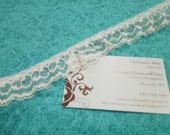 White lace, 1 yard of 1 inch White Ruffled Chantilly lace trim for bridal, baby, housewares, sewing, crafts by MarlenesAttic - Item 6H