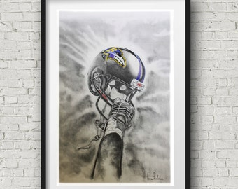 M&T Stadium Baltimore Ravens Helmet Wall Art