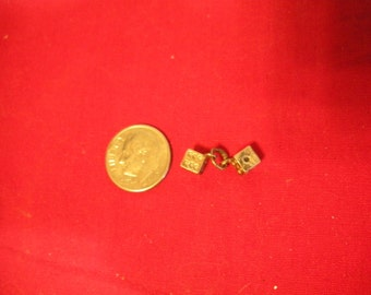 Vintage 3-D  Dice Sterling Silver Charm