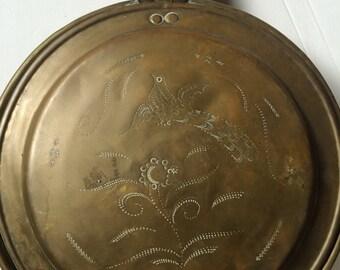 Vintage Brass Hot Pan