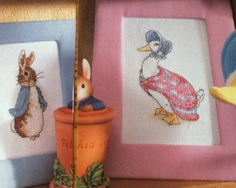 ANCHOR - BEATRIX POTTER  - The Tale of Peter and Jemima - Cross Stitch Pattern Only