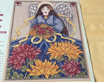 O - CHRYSANTHEMUM - Flower-Of-The-Month- NOVEMBER- Cross Stitch Pattern Only