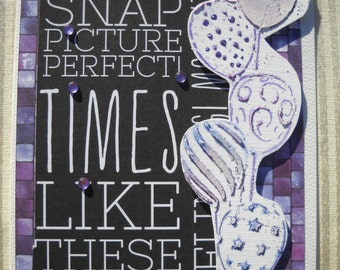 Mixed Media Greeting Card - Snap Picture Perfect