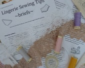 Sewing tips for sewing your own briefs or panties Handy hints sheet for beginner instant download pdf printable