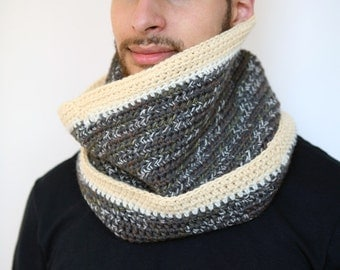 Russki - Speckled Multi-Color Alpaca and Peruvian Wool Cowl Neckwarmer, Super Warm, Weather Resilient, Unisex