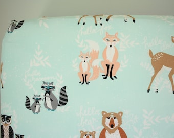 Fitted Crib Sheet: Hello Meadow    by JuteBaby