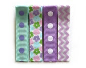 SALE - 25% OFF! Set of 4 Lilac Bouquet No Slip Hair Clippies