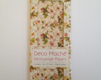 First Edition Flower Haze Decoupage Papers