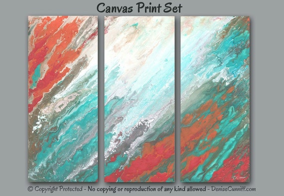 abstract canvas print set multi panel 3 piece wall art extra large