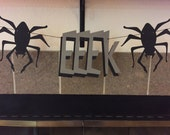 EEEK banner-Spider banner-photo decorations-table banner-Halloween photo prop-