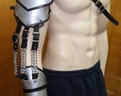 Leather Armor Custom Crafted Full Arm with graphic