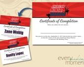 American Ninja Warrior Birthday Party -- Certificate of Completion Party Favor -- Ninja Warrior Birthday