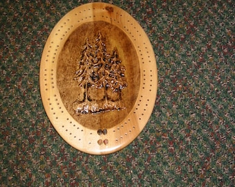 Evergreen Tree Cribbage Board
