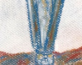 Small Original Pastel Still Life Bartender Art Jigger by Niki Hilsabeck